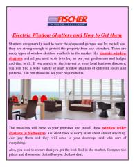 Electric Window Shutters and How to Get them.pdf