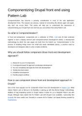 Componentizing Drupal front end using Pattern Lab.pdf