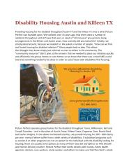 Disability Housing Austin TX Picture Perfect Cooperative Living.pdf